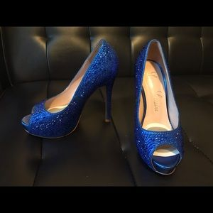 774d02b38d7 Shoes - Blue Shoes 👠 Candy Crystal Peep Toe Pump